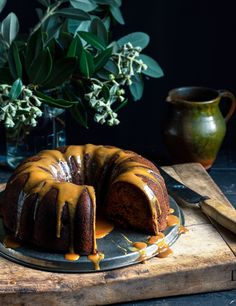 From The Kitchen: Pear & Date Bundt Cake with Caramel Mascarpone Sauce. The cake sounds divine but the sauce looks weird.would have to change that. Baking Recipes, Cake Recipes, Dessert Recipes, Cupcakes, Cupcake Cakes, Pavlova, Rustic Apple Tart, Bunt Cakes, Dessert