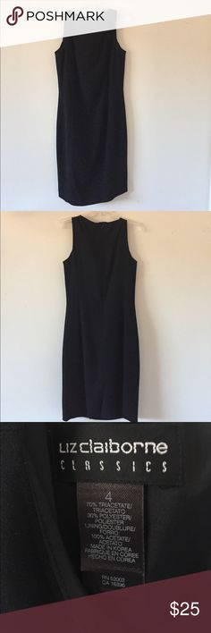 Liz Claiborne Dress Black Liz Claiborne dress. Zips up in the back. Size 4. Perfect for many different types of occasions. Liz Claiborne Dresses
