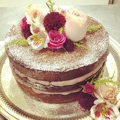 decoração de bolo com flores naked cake - Pesquisa Google
