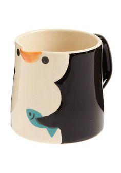 I& A Little Penguin Mug.Gloria T. Cute Coffee Mugs, Cool Mugs, Tea Mugs, Coffee Cups, Penguin Mug, Penguin Love, Cute Penguins, Penguin Parade, Stars Disney