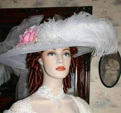 Victorian Hat � White Crystal Fairy