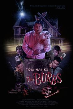 "Retro Movie Poster Art on a Tee for the Classic film ""The 'Burbs"" The Burbs Movie, We Movie, Film Movie, Movie Poster Art, Film Posters, Horror Art, Horror Movies, 80s Movies, Drama Movies"