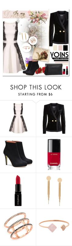"""""""YOINS"""" by anastasia-ana ❤ liked on Polyvore featuring Balmain, Chanel, Smashbox, EF Collection, Michael Kors, yoins and yoinscollection"""
