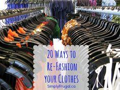 20 Ways to Refashion Clothes