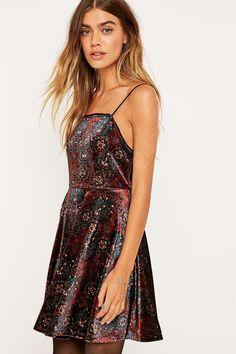 Pins & Needles Lulu Purple Fit and Flare Dress - Urban Outfitters from Urban Outfitters.