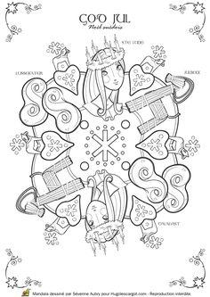 Coloriage / dessin Mandala de Noël Suède
