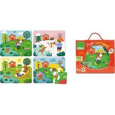4 puzzels - de 4 seizoenen - #Vilac #puzzles #seasons  #sint #sinterklaas #littlethingz2