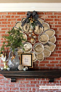 Shut up! She made a wreath with metal trays from the dollar tree!