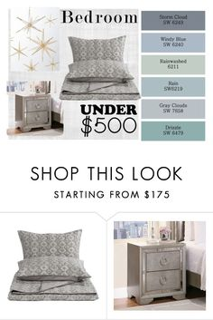"""""""#bedroomunder500"""" by ical-rox ❤ liked on Polyvore featuring interior, interiors, interior design, home, home decor, interior decorating, Benjamin Moore, Design Within Reach, Distinctly Home and Abbyson Living"""