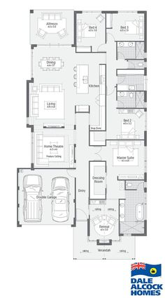 Diy Crafts - New Home Designs Perth 5 Bedroom House Plans, Family House Plans, New House Plans, Dream House Plans, Modern House Plans, House Floor Plans, Kitchen Design Open, Contemporary Kitchen Design, Modern House Design