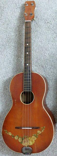 1932 Tonk Bros Washburn Tenor Guitar (by Regal) --- https://www.pinterest.com/lardyfatboy/