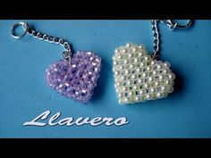 DIY - Como hacer un llavero- How to make a keychain- كيف تصنع keychain Seed Bead Jewelry, Pendant Jewelry, Beaded Jewelry, Handmade Jewelry, Jewelry Making Tutorials, Beading Tutorials, Beading Patterns, Beaded Brooch, Beaded Rings