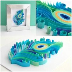 Hard to believe that this unicorn is fai - Quilling Paper Crafts Arte Quilling, Paper Quilling Flowers, Paper Quilling Patterns, Origami And Quilling, Quilled Paper Art, Quilling Paper Craft, Diy Paper, Paper Crafts, Peacock Quilling