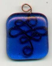 Free Tutorial Wire and Fused Glass CelticPendant