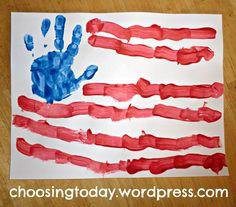 american flag preschool craft - Google Search