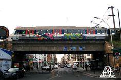 Cage - Abse #ParisSaintLazare #Graffiti #Train #running #2015