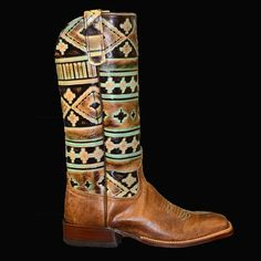 Anderson Bean Navajo Turquoise Ladies Boot