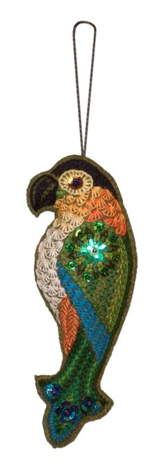 TUFTED PARROT~COCKATIEL BIRD BLOWN GLASS CHRISTMAS ORNAMENT~CHOOSE 1~NWT