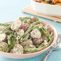 Potato and Green Bean Salad -  Print this recipe at AmericanFamily.com.