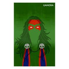 A Design Geek - Minimalist Art Poster of Gamora, $14.99 (http://www.adesigngeek.com/minimalist-art-poster-of-gamora/)