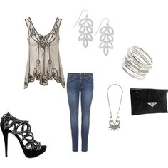 Night out, created by kristina-mabbitt-cox on Polyvore. LOVE these shoes!