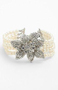 Nina 'Oceana' 4-Row Faux Pearl Bracelet available at #Nordstrom