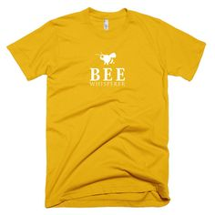 Bee Whisperer Fine Jersey Short Sleeve Mens/Unisex T-Shirt  Made in the USA Fine jersey (100% cotton) Slim fit Double stitched Durable rib neckband