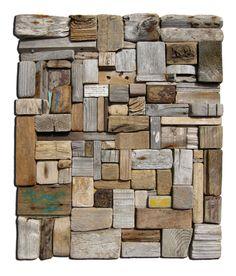 Sea Sculpture, Driftwood Sculpture, Wall Sculptures, Driftwood Wall Art, Driftwood Crafts, Wood Mosaic, Mosaic Art, Diy Framed Art, Concrete Block Walls