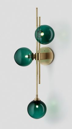 Trilogy-Wall-Sconce-Drunken-Emerald-Brass – Articolo - All For Decoration Lounge Lighting, Interior Lighting, Home Lighting, Lighting Design, Picture Lighting, Retro Lighting, Accent Lighting, Wall Sconce Lighting, Lampe Art Deco