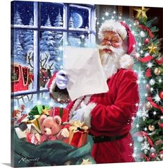 Diy Diamond Painting Cartoon Santa Claus Round Diamond Embroidery for Navidad Christmas House Decoration Handmade Present,S Christmas Frames, Christmas Scenes, Christmas Pictures, Christmas Art, Vintage Christmas, Christmas Decorations, Xmas, Days Till Christmas, Very Merry Christmas