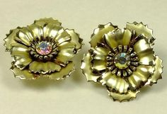 Vintage Earrings, Clip On Earrings, Vintage Jewelry, Turquoise Earrings, Gold Earrings, Free Coupon Codes, Rosettes, Vintage Designs, Floral