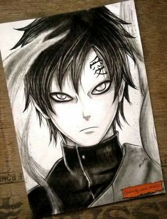 Anime Naruto, Fan Art Naruto, Naruto Gaara, Itachi, Anime Drawings Sketches, Naruto Drawings, Manga Drawing, Naruto Tattoo, Anime Tattoos
