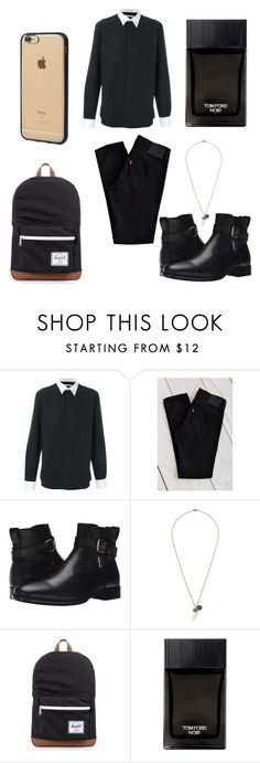 """Untitled #109"" by mariazumbado ❤ liked on Polyvore featuring Givenchy, Levi's, Aquatalia by Marvin K., Topman, Herschel Supply Co., Tom Ford, Incase, men's fashion and menswear"