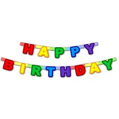 Downloadable Paper Birthday Banner