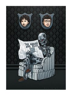 "Blair Sayer ""Plight of the Conchords"" Print inspired by Flight of the Conchords"