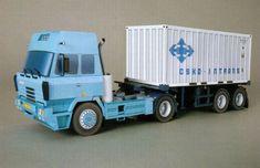 Tatra 815 200N51 Truck Paper Model Ver.2 Free Template Download