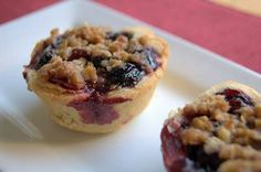 Mini Blueberry Cherry Crumb Pies