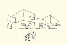 LAURENT BEAUDOUIN ARCHITECTE : CROQUIS DU COLLÈGE MONTAIGU A HEILLECOURT