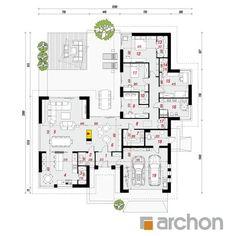 projekt Dom w kliwiach (G2) rzut parteru