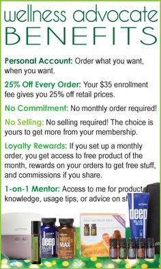 Green Warrior Mama – doTERRA Wellness Advocate Benefits: Sign up to save 25% on your order now, and on every order. No minimum monthly order required, no selling required... just savings, and more if you want it!  http://www.mydoterra.com/cherylwilliamsessentialoils