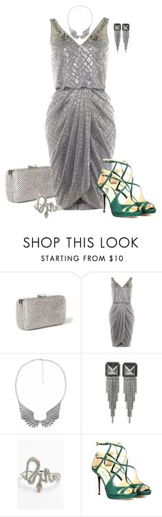 """""""Modern Cleopatra"""" by asigworth ❤ liked on Polyvore featuring Rebecca Taylor, Adrianna Papell, Forever 21, Jules Smith, Melinda Maria, Jimmy Choo and modern"""