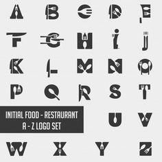 Rustic Restaurant logo simple rustic knife fork food logo re Logo Restaurant, Resturant Logo, Restaurant Vintage, Food Logo Design, Logo Food, Best Logo Design, Identity Design, Brand Identity, Creative Logo