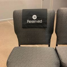 pew sash reserved sign fabric sign for chair, pew, theater, venue, auditorium Reserved Wedding Signs, Reserved Signs, Pantone Color, Wedding Pew Markers, Wedding Pews, Reserved Seating, Stitch Shop, White Embroidery