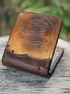 Custom Bi Fold Wallet Built From Old Baseball Glove-Vvego  #baseball #baseballleatherleatherwallet #coolwallets #giftsforhim #giftsforguys #madeintheusa  Find Us On Instagram @vvegogear  @vveg