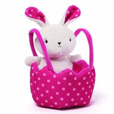 The perfect Easter Egg Hunting Bag! Use on an Easter Egg hunt or as an Easter basket. This versitile bag can do both. The bunny is sewn into the bag and can not be removed. Bag has 2 handles for easy . Easter Toys, Easter Bunny, Black Friday Toy Deals, Hunting Bags, Easter Gift Baskets, Easter Colors, Egg Hunt, Baby Gifts, Plush