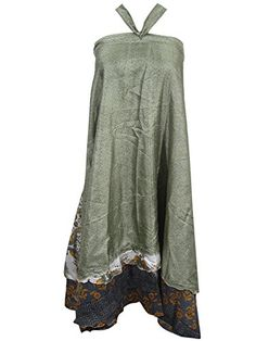 Womans Wrap Skirt Printed Two Layer Vintage Silk Sari Magic Skirts Sarong Dress Mogul Interior http://www.amazon.com/dp/B013I4IHYK/ref=cm_sw_r_pi_dp_Zyk8vb0WT4C9F