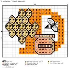 alfabeto ape e miele: D