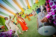 Kunal Nayyar's Big Bang Indian Wedding - mehendi / henna function - Indian wedding decor - sangeet decor - outdoor marquee - celebrity Indian bride - celebrity Indian wedding #thecrimsonbride