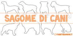 Sagome di cani da stampare, colorare e ritagliare