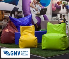 Colorful #cushions at #Milan #Macef #home show, point of reference for all those in the sector of #interiordesign - do you like them?  Discover routes from/to #Italy in our website: http://www.gnv.it/en.html